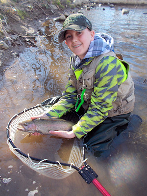 Virginia fly fishing young angler - John Roberts Fly Fishing